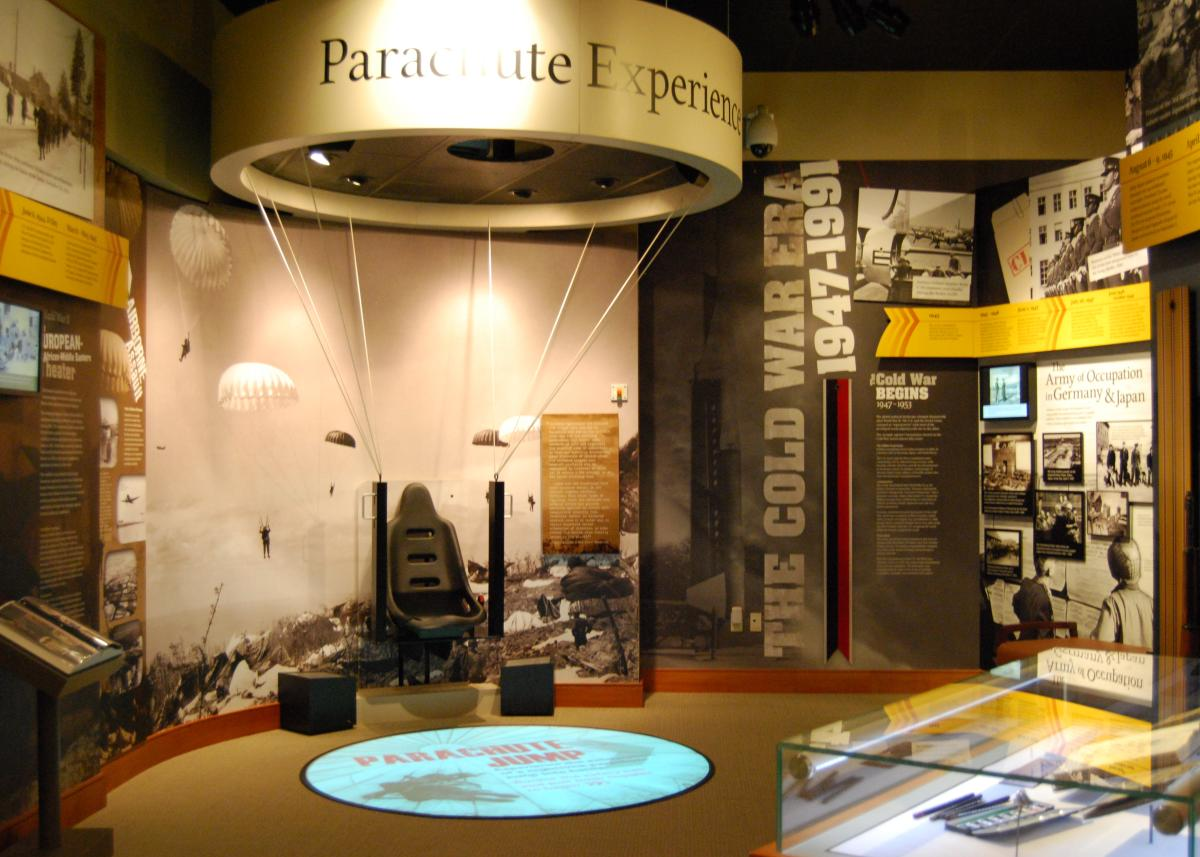 An exhibit  inside the U.S. Army Heritage & Education Center.