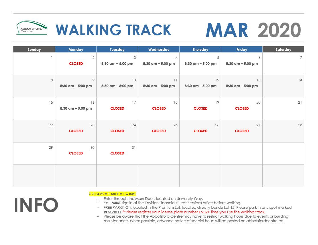 March Walking Track - NEW