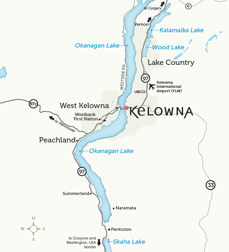 Kelowna & Communities Map