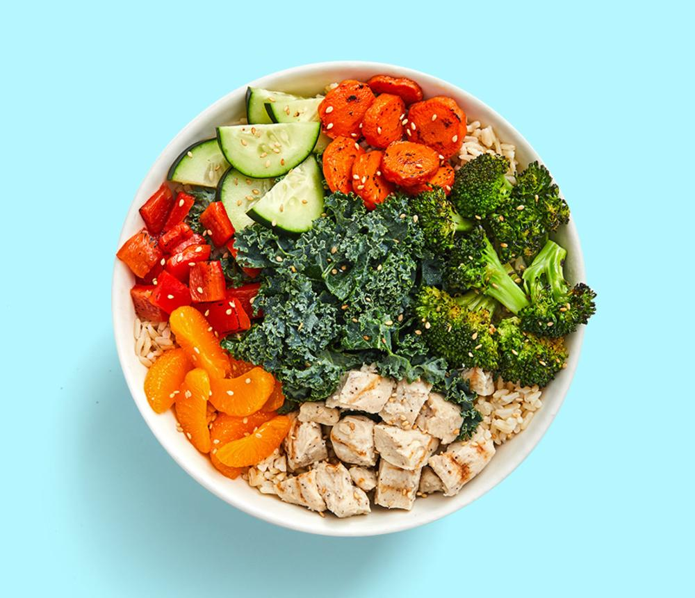 Asian Peanut Chicken Grain Bowl