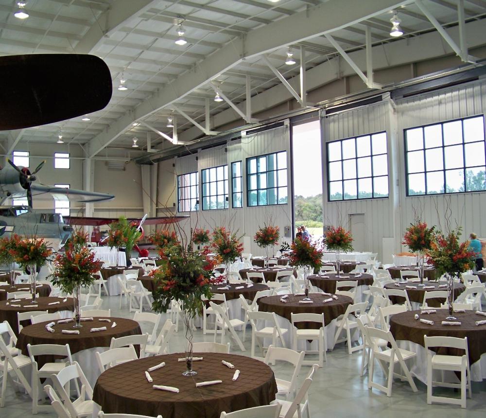 Dinner Navy Hangar Doors