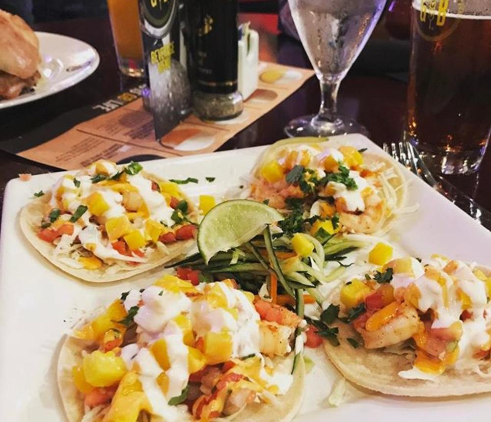 shrimp mango tacos