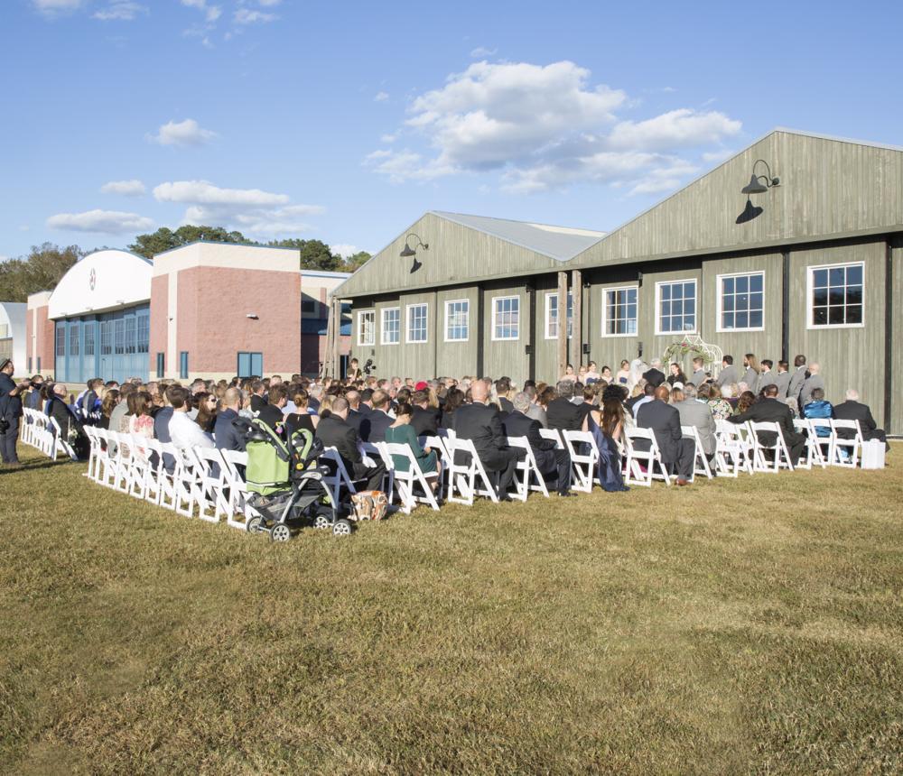 WWI Hangar Outdoor Ceremony