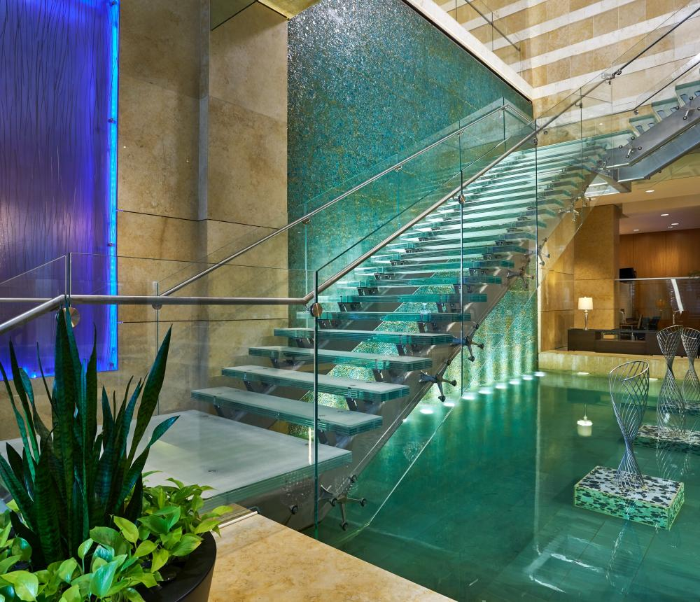Glass Staircase in Lobby 2018