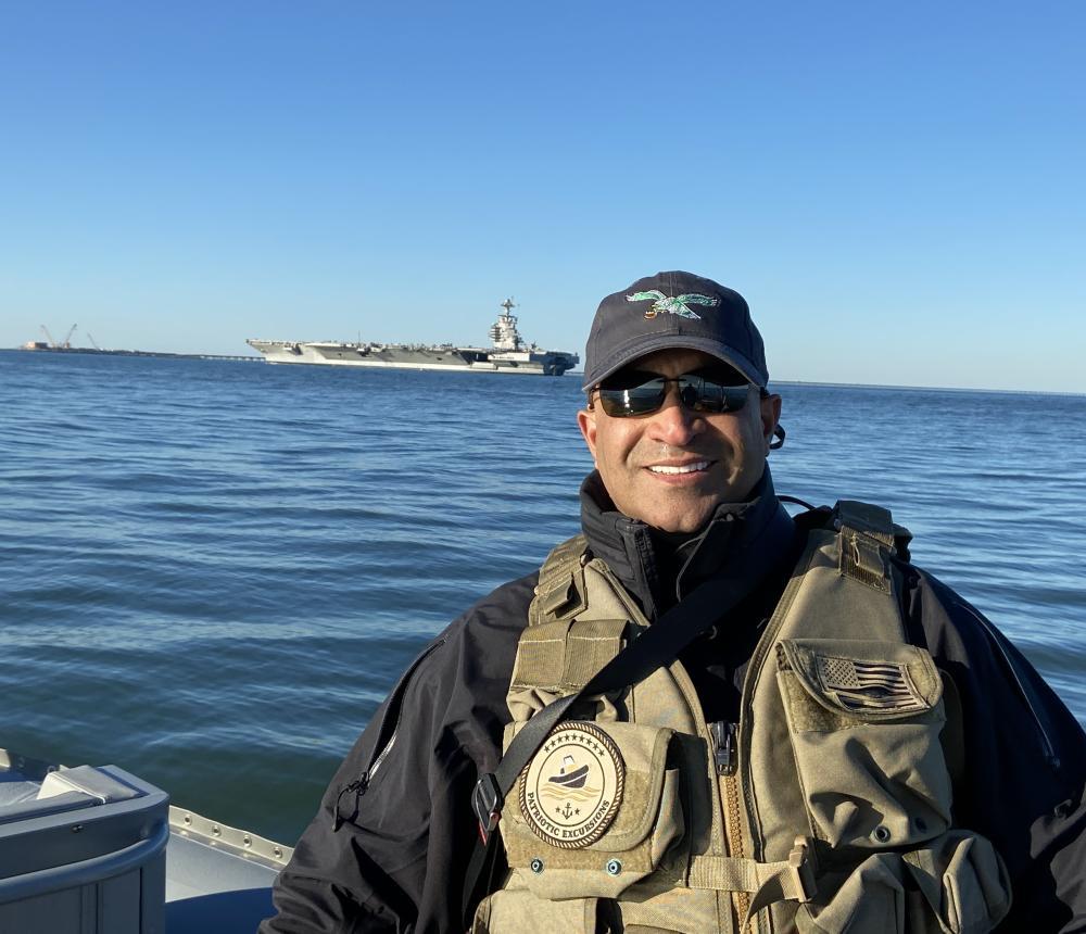 Dad with Carrier shoulder