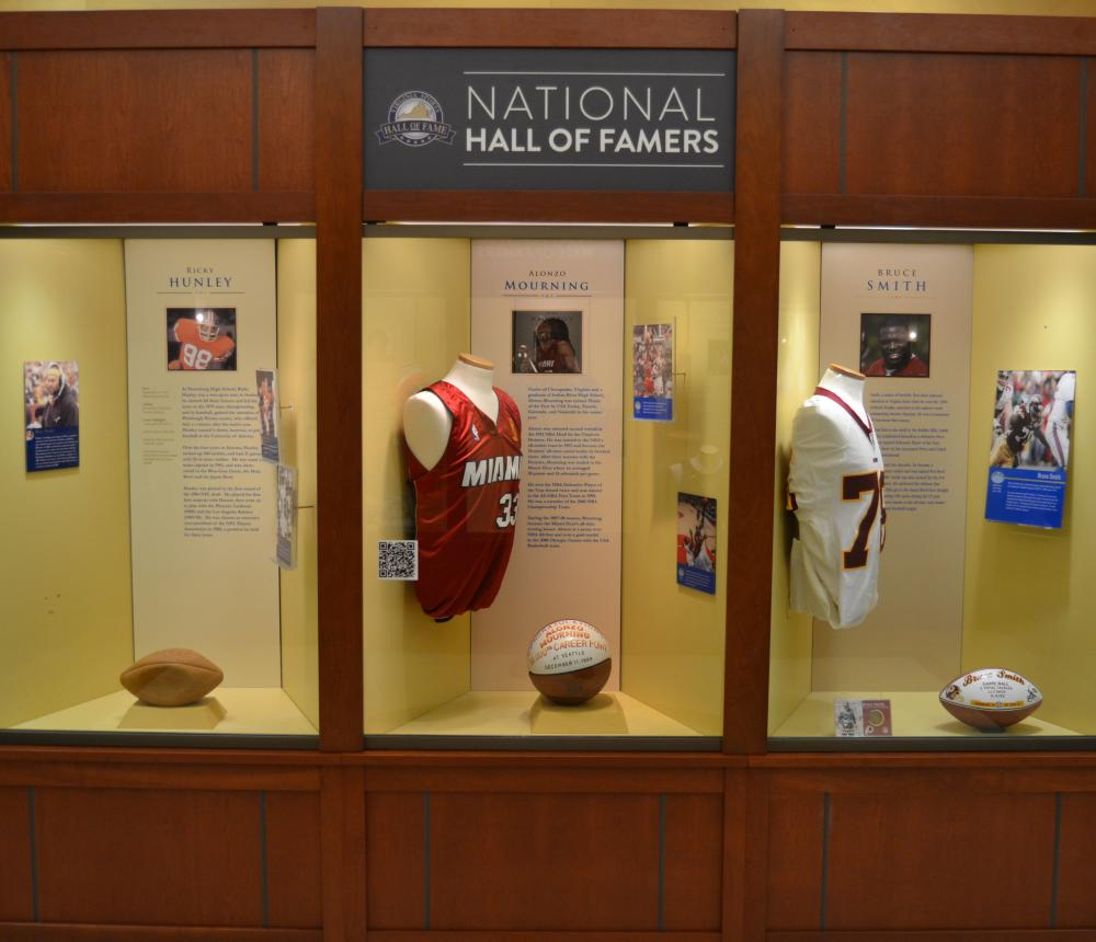 National Hall of Famers Exhibit