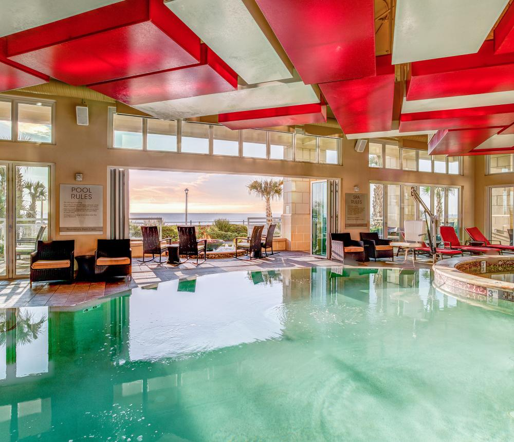 Indoor Pool and Patio