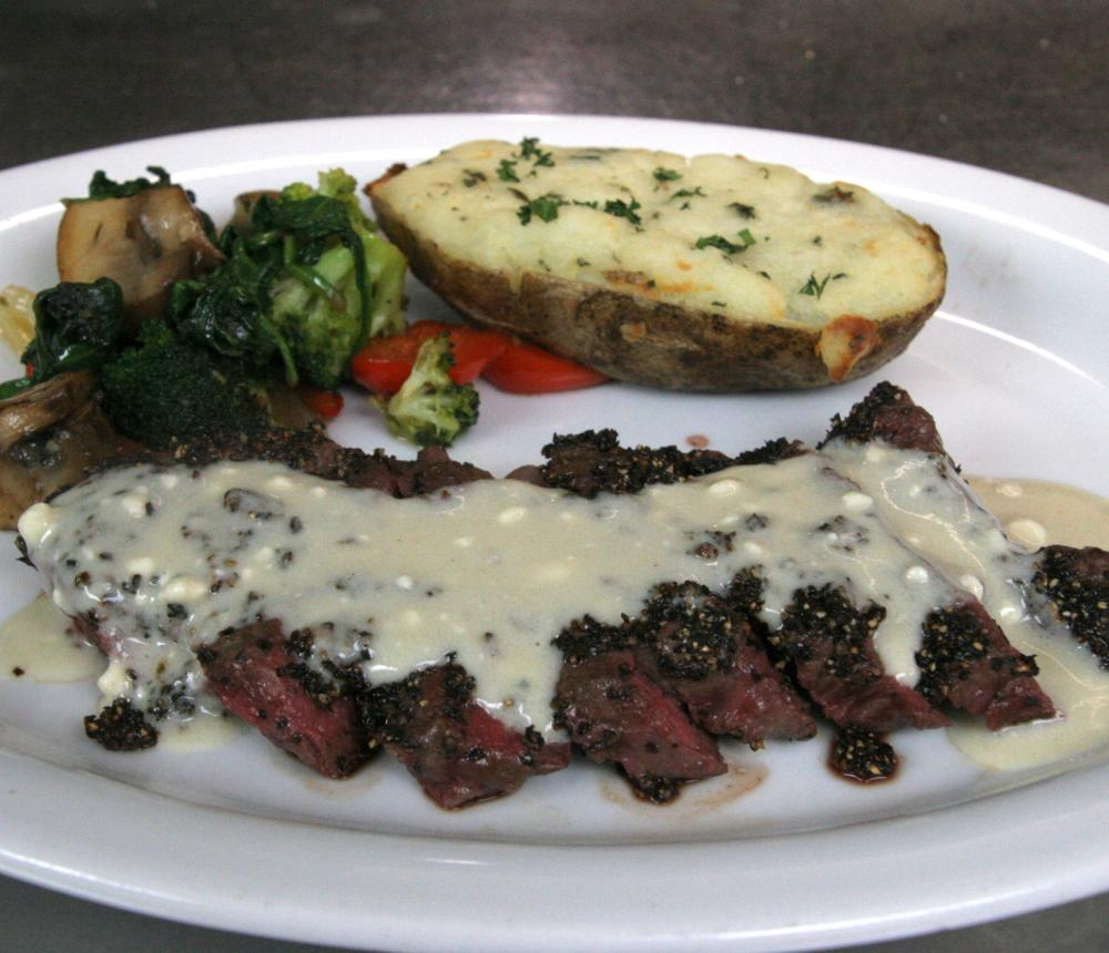 Peppercorn Encrusted Sirloin