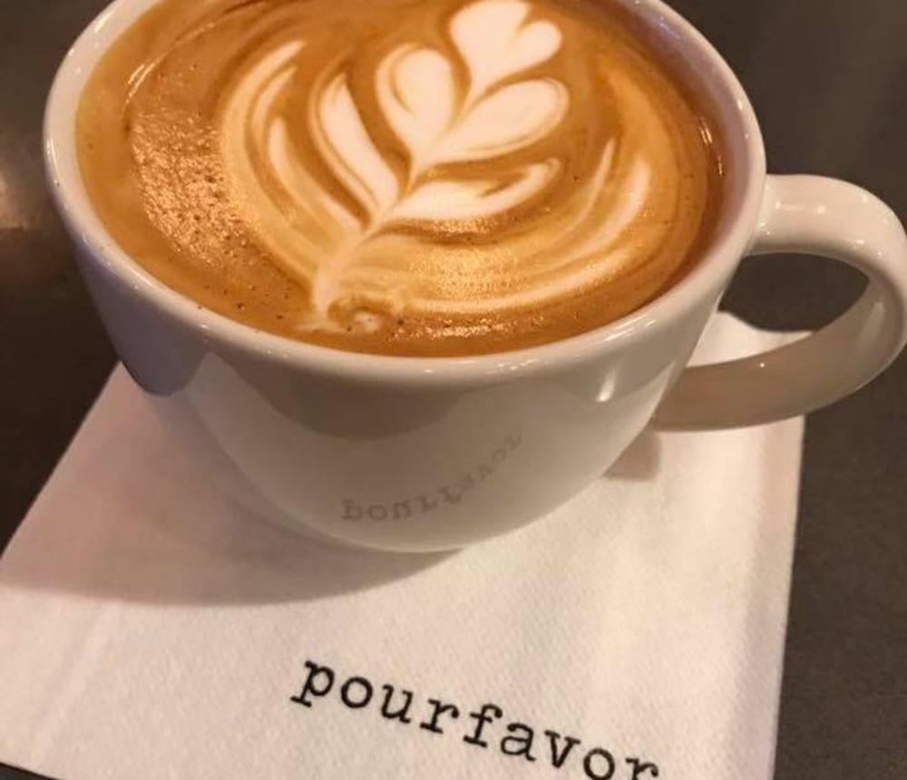Pour Favor Logo + Coffee