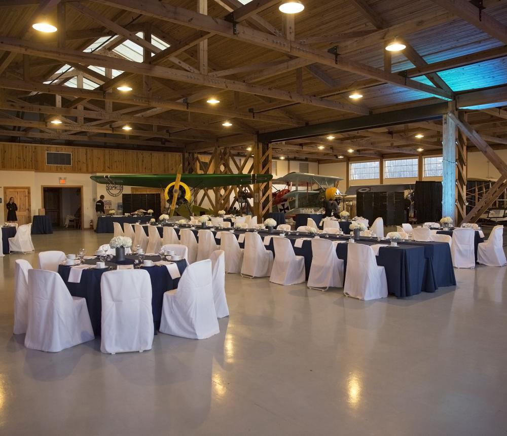 WWI Hangar Wedding Head Table 1