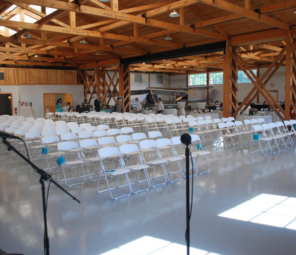 WWI Hangar Wedding Ceremony Chairs 2