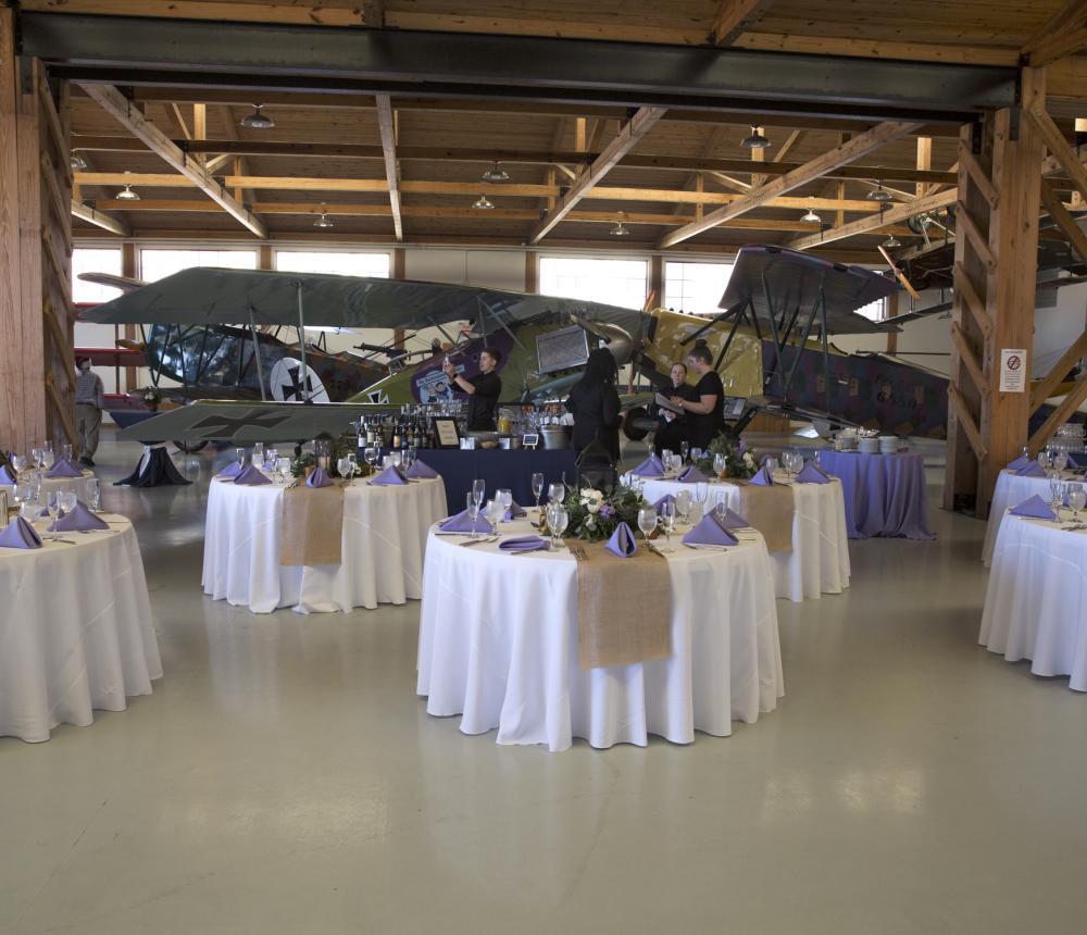 Wedding WWI Hangar