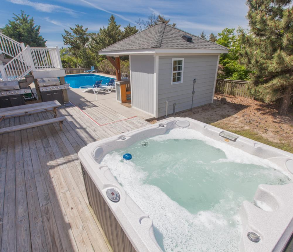 Amenities include hot tubs and pools at many of our vacation homes.