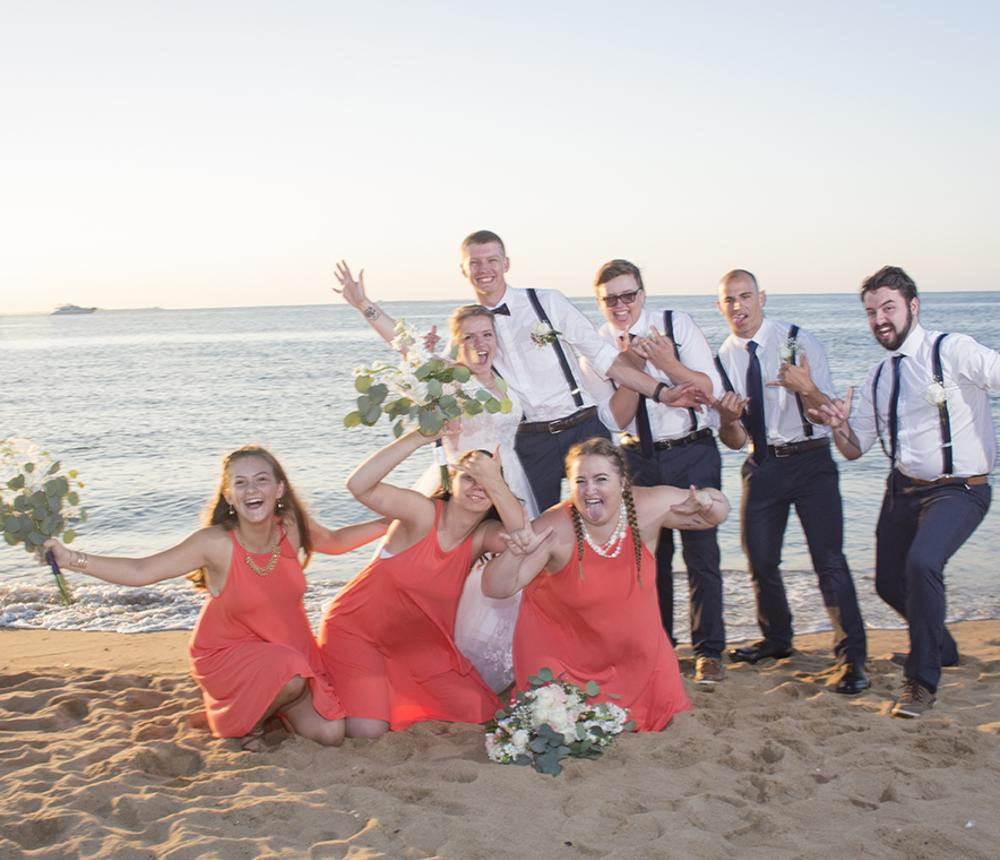 A fun beach wedding!