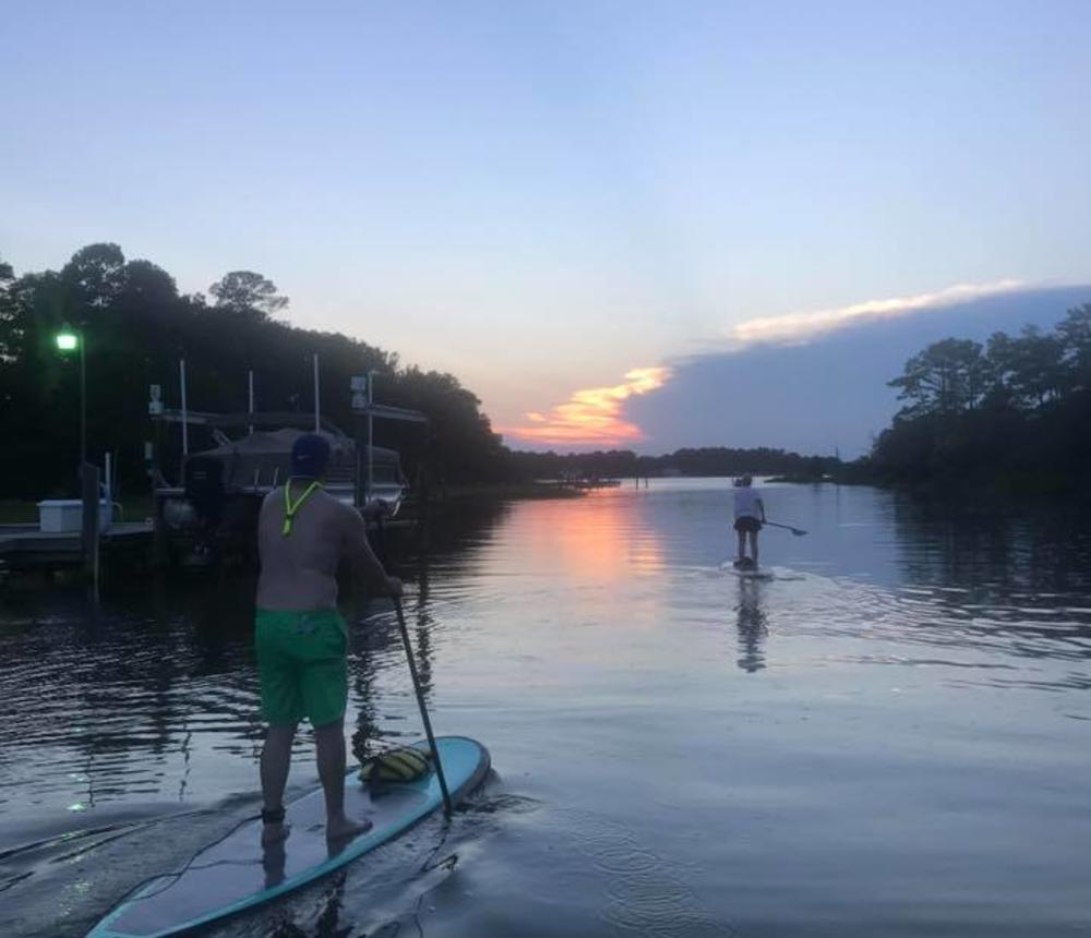 Sunset paddlers
