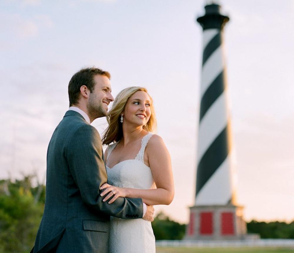 Beach wedding photography by Justin Hankins.