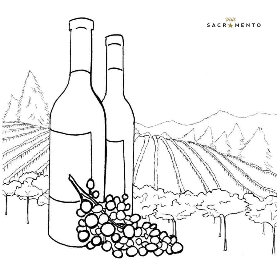 Sacramento Vineyard Coloring Page