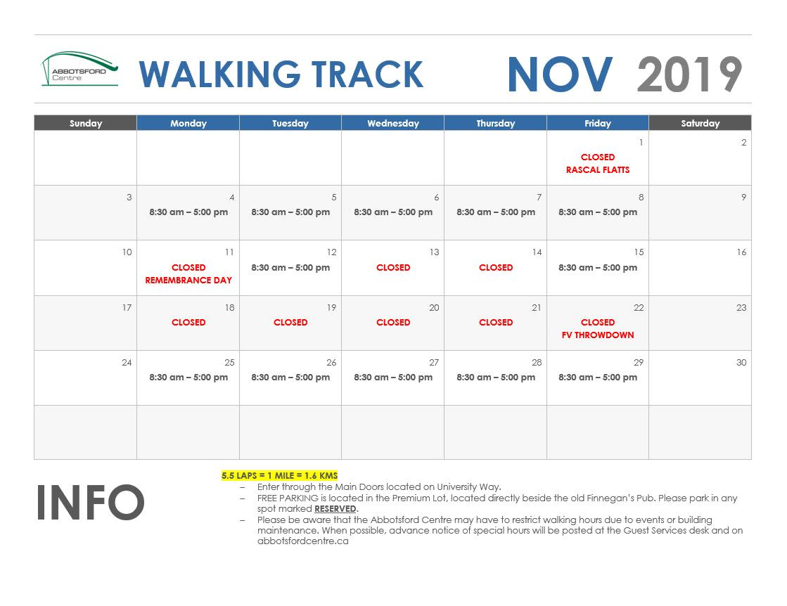 November Walking Track - New