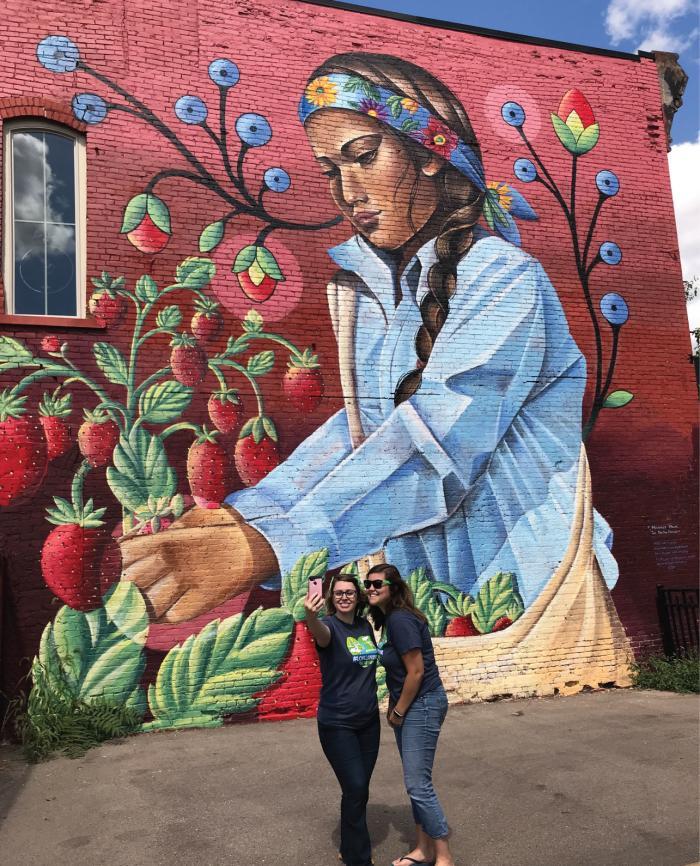 Strawberry Mural