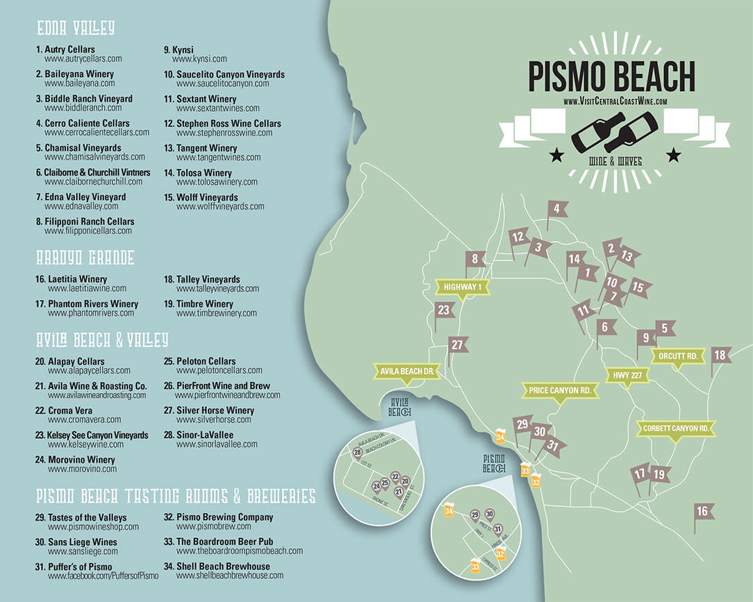 Central Coast Wine Map