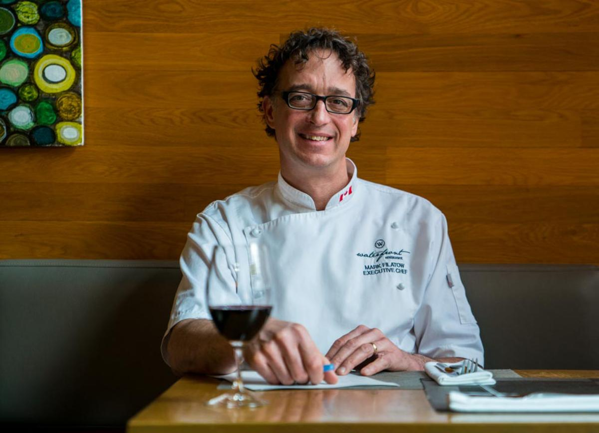 Chef Mark Filatow at table