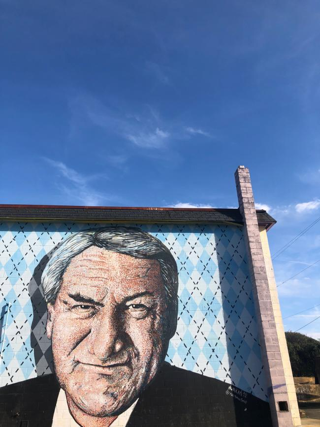 Dean Smith Mural by Scott Nurkin