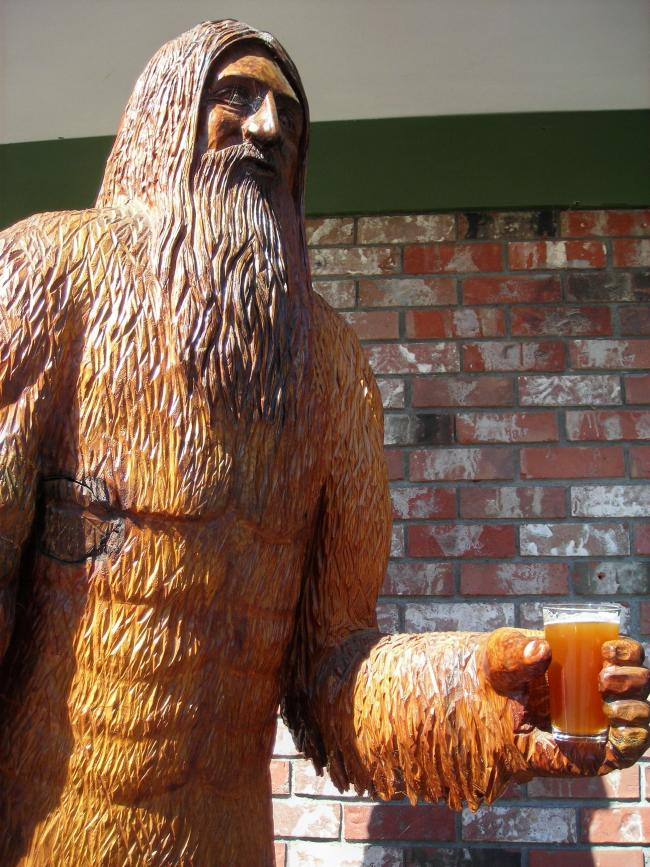 Big Foot (Sasquatch) with a Craft Beer by Cari Garrigus