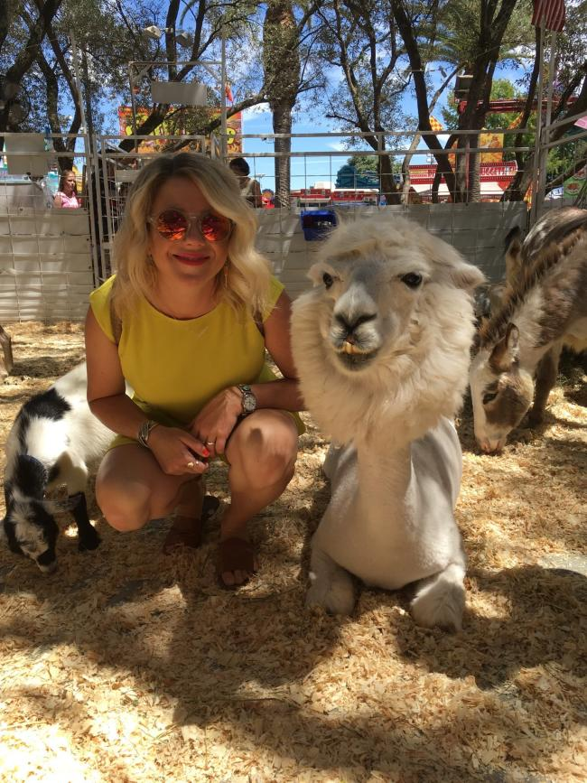 CA State Fair petting zoo