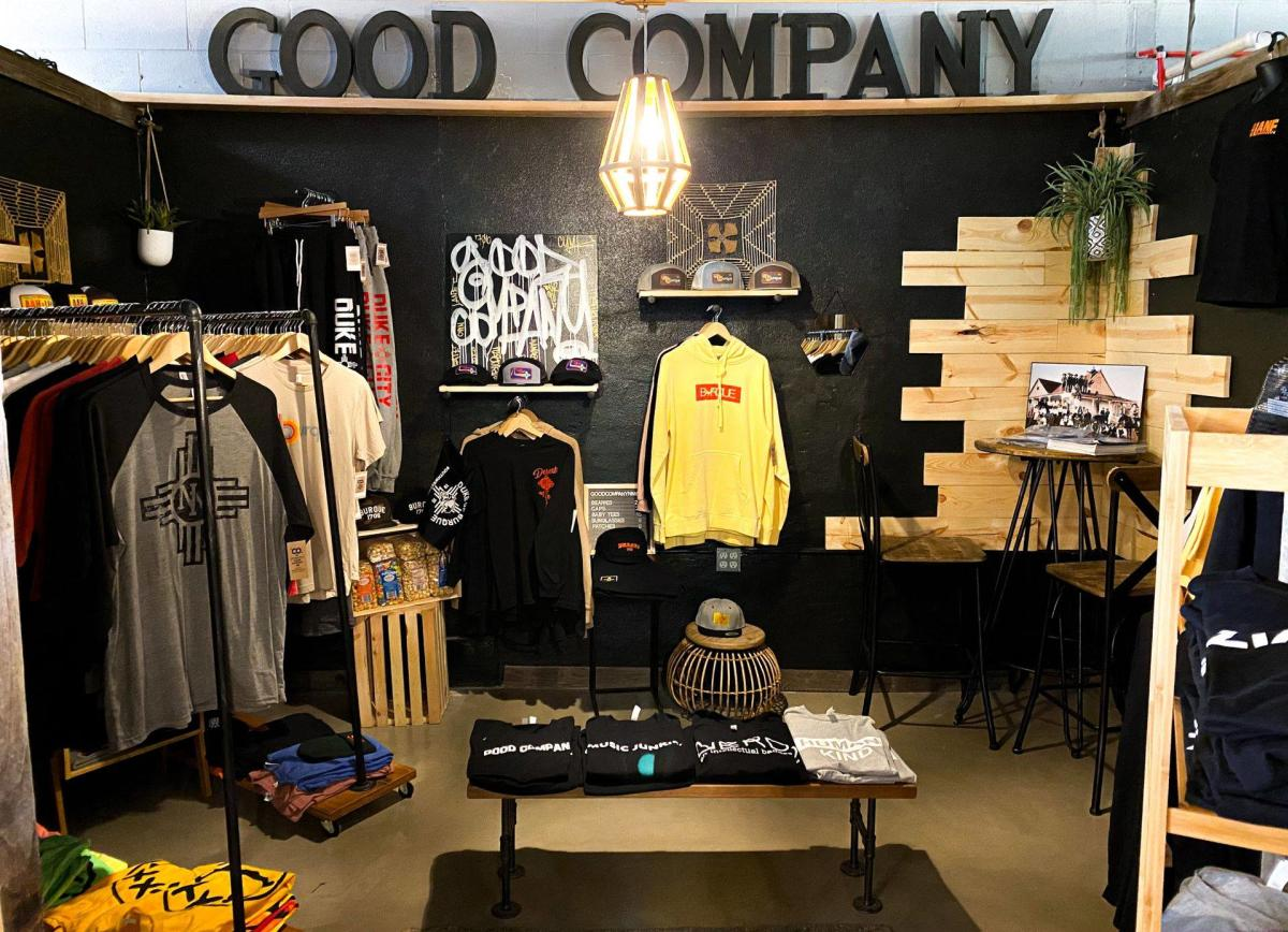 A photo inside the Good Company Store