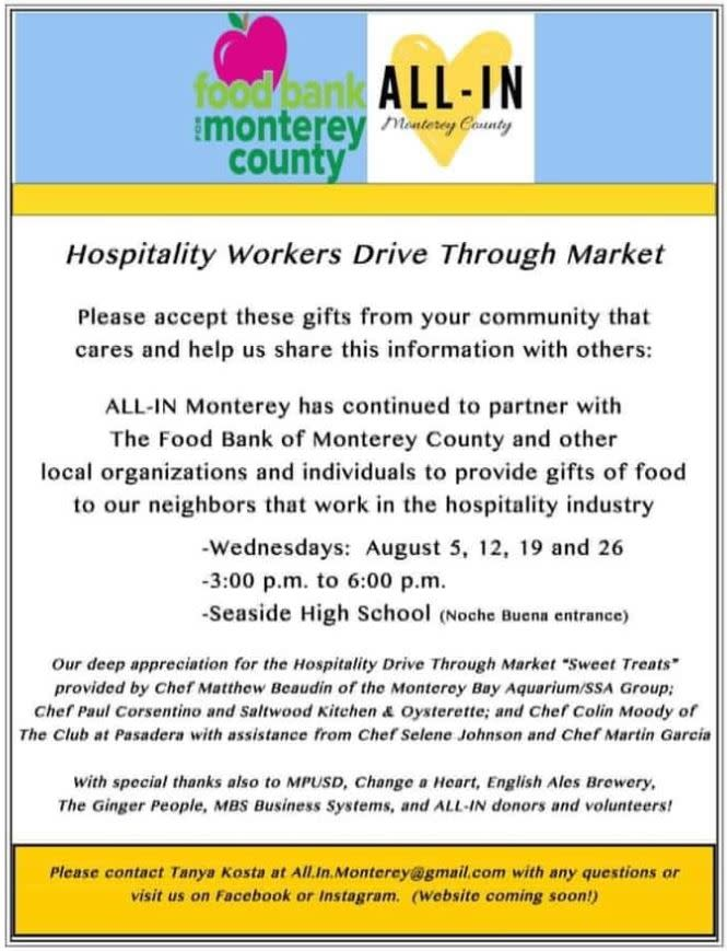 All In August Food Bank Dates