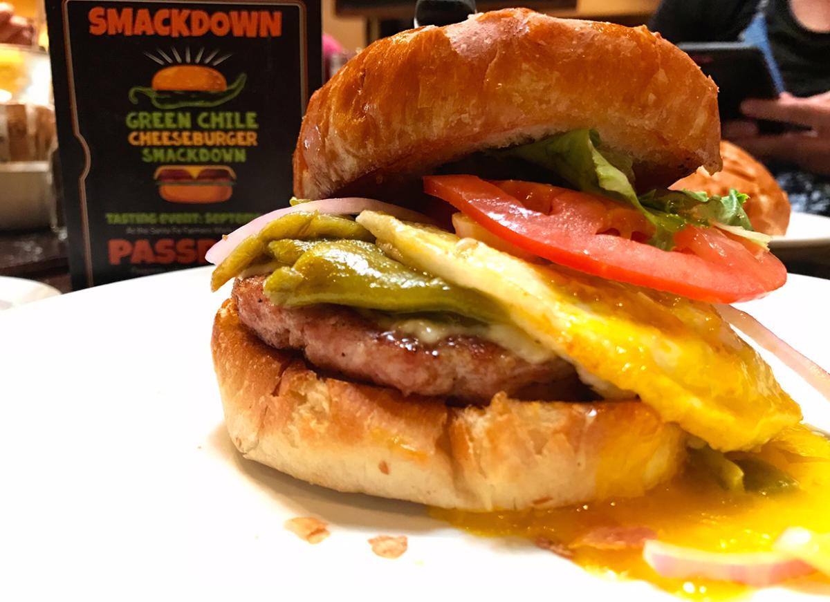 Green Chile Cheeseburger Smackdown Social Media Crawl Blue Corn Brewery