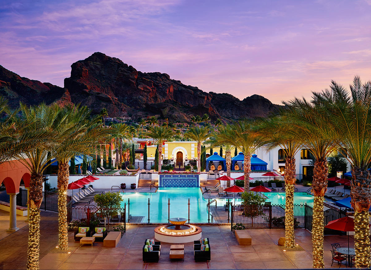 The pool at the Omni Scottsdale Resort & Spa at Montelucia will keep you relaxed after a long day of exhausting fun!
