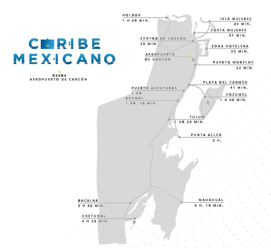 Caribe Mexicano - Mapa Estado