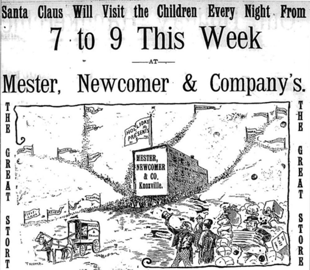 Mester, Newcomer & Company Christmas ad courtesy of Knoxville History Project