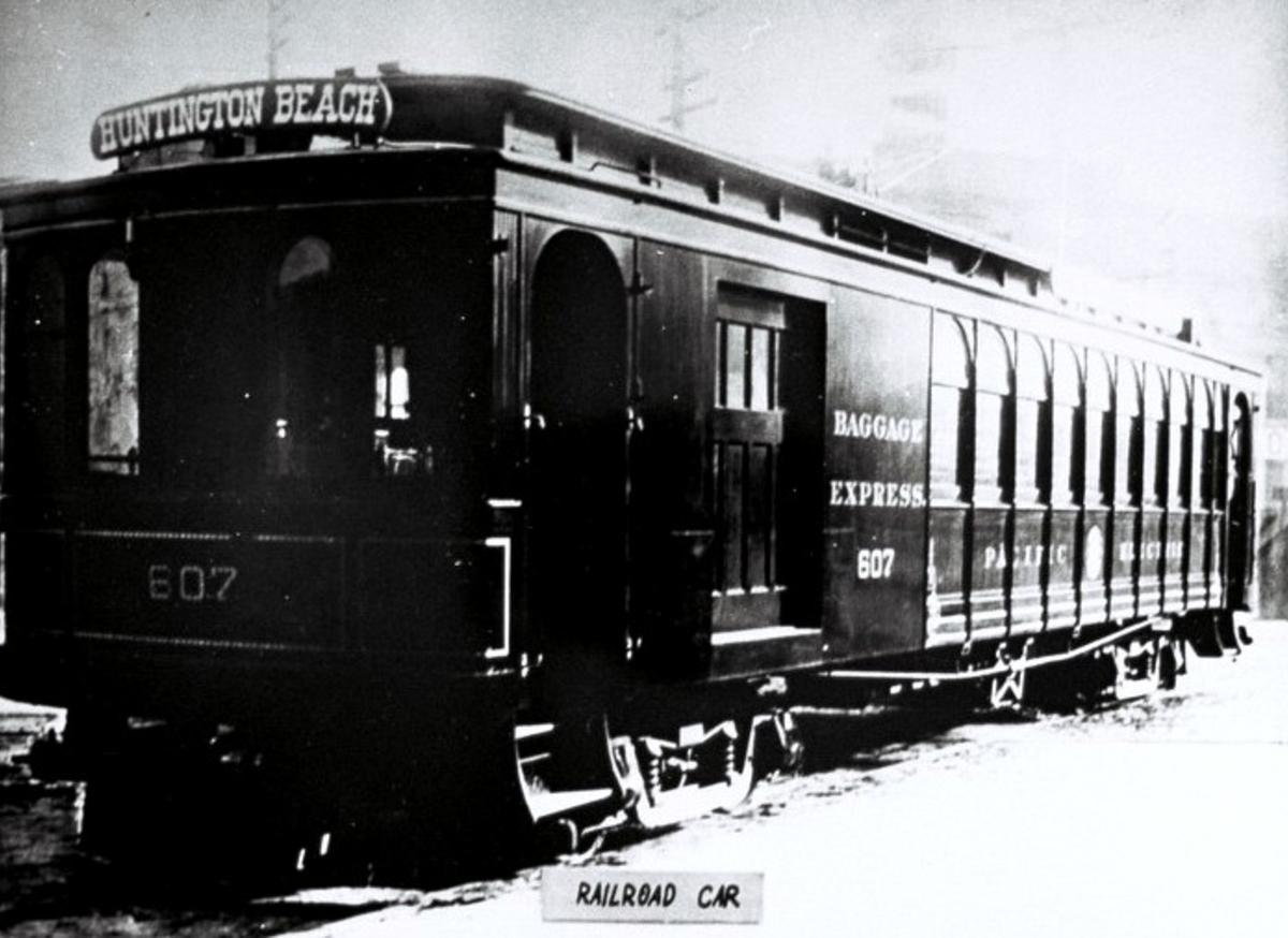 Huntington Beach History Railroad Car