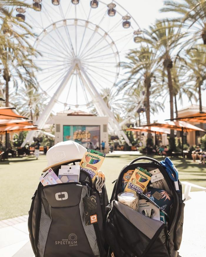 Back to School Giveaway Irvine Spectrum Center 2019