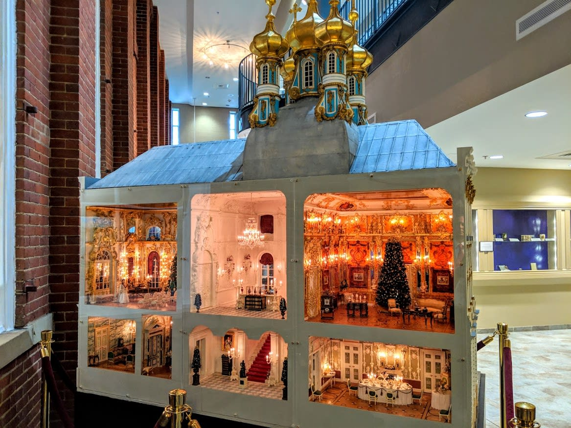 A miniature, dollhouse version of Catherine the Great's palace in Maysville, Kentucky
