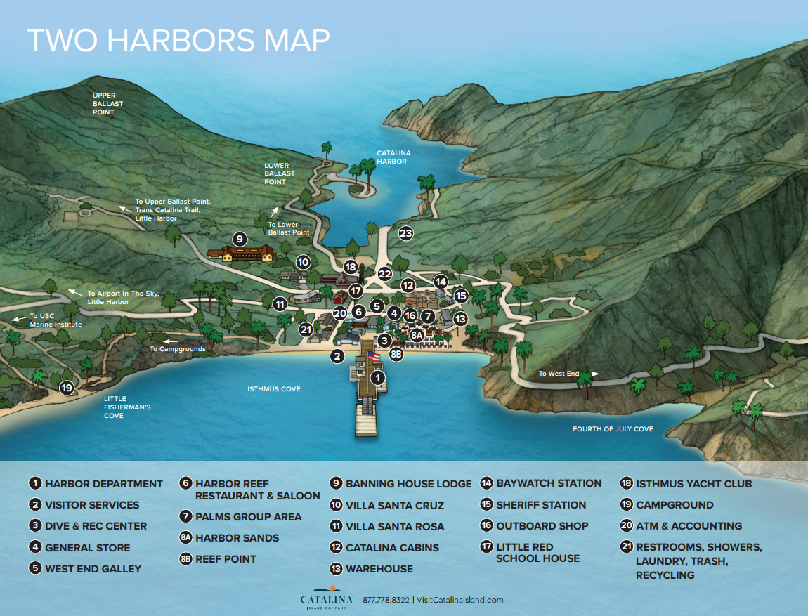 Two Harbors map