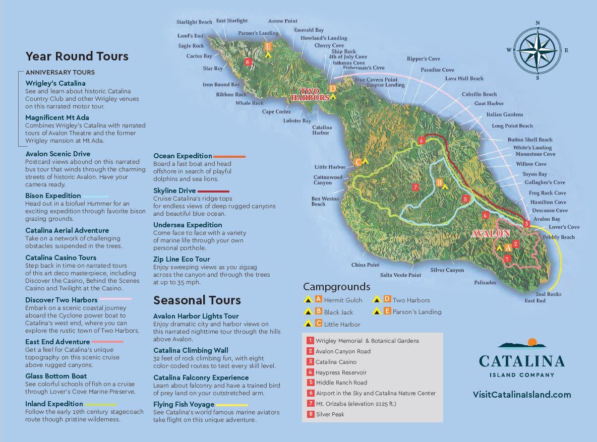 Catalina Map