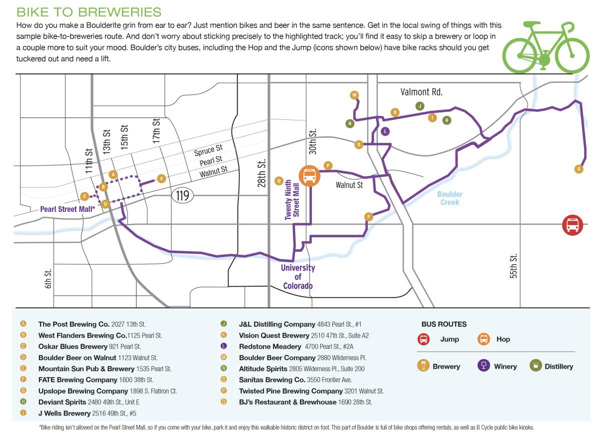 Bike to Breweries Map