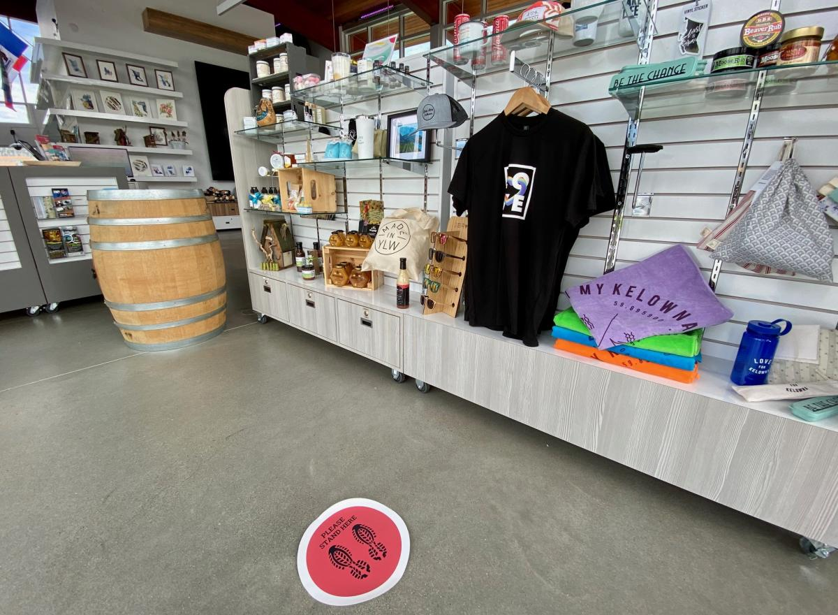 Retail and Floor Decal in Visitor Centre