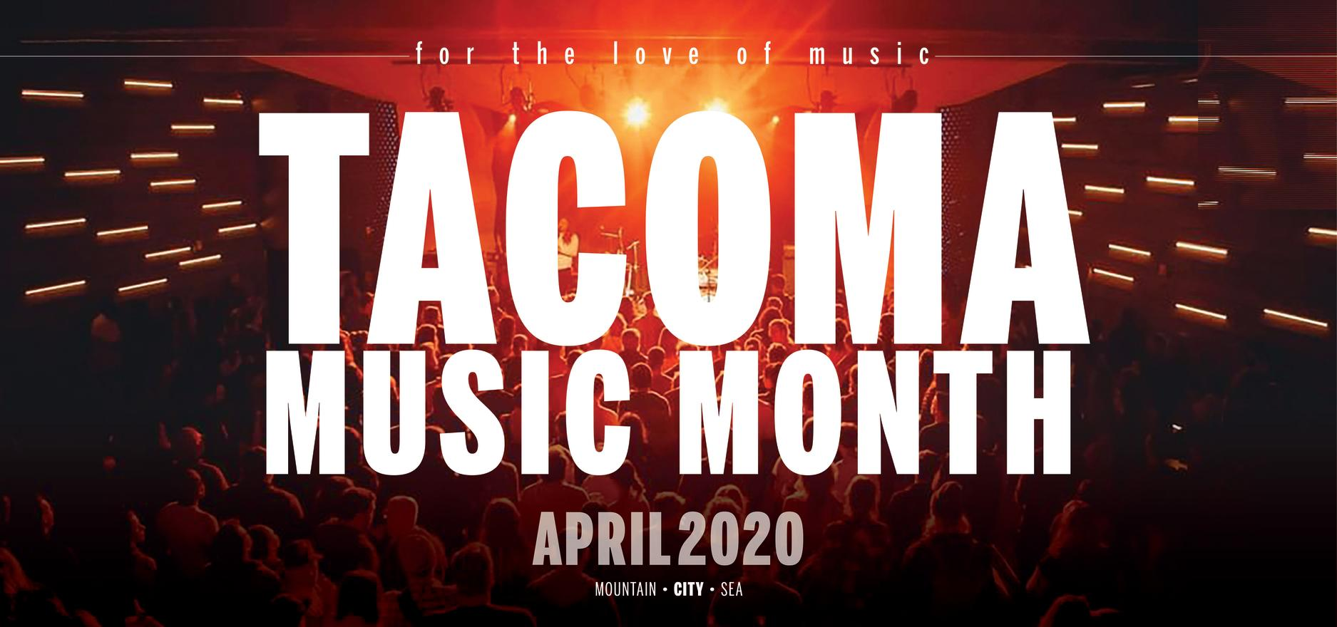 Tacoma Music Month header