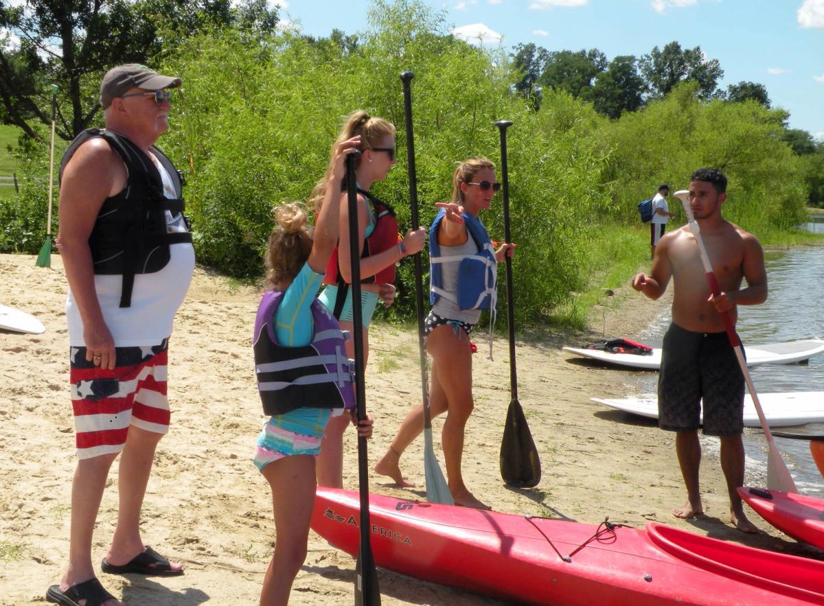 Paddle Boarding in Falls