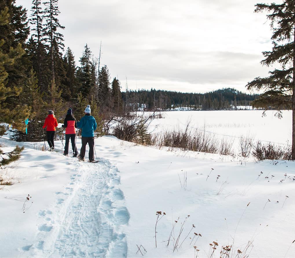 Snowshoeing at Stake Lake