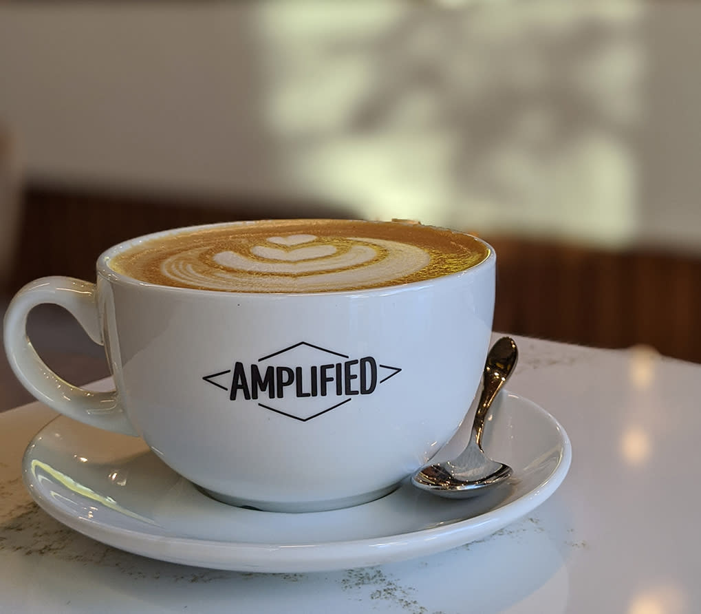 Eggnog Latte at Amplified Cafe