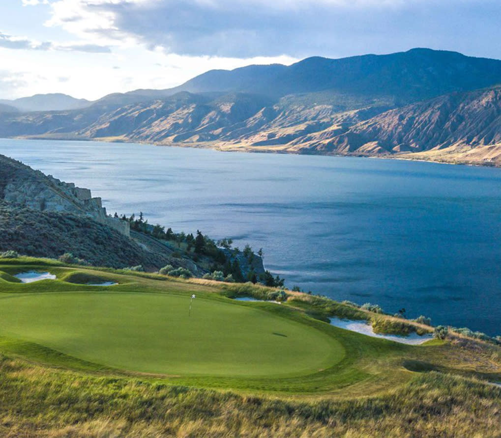 Golfing at Tobiano Golf Course