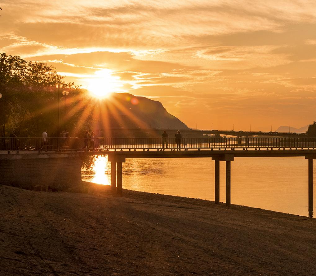 Sunset at Riverside Park