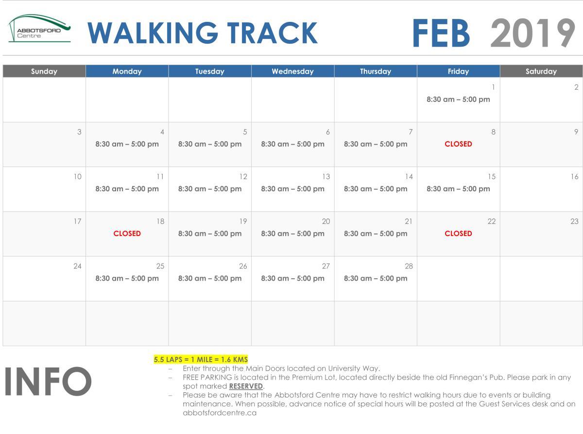 February Walking Track