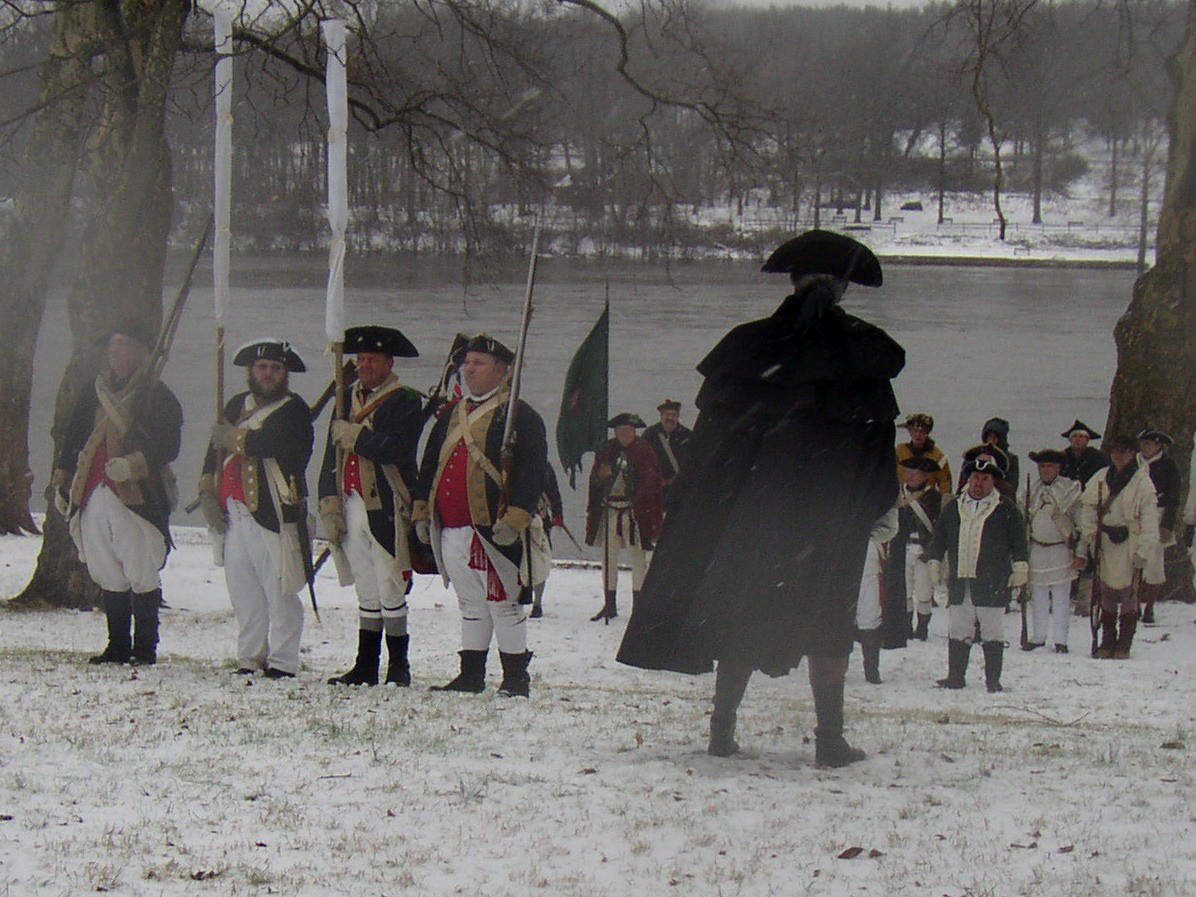 Washington Addressing Troops