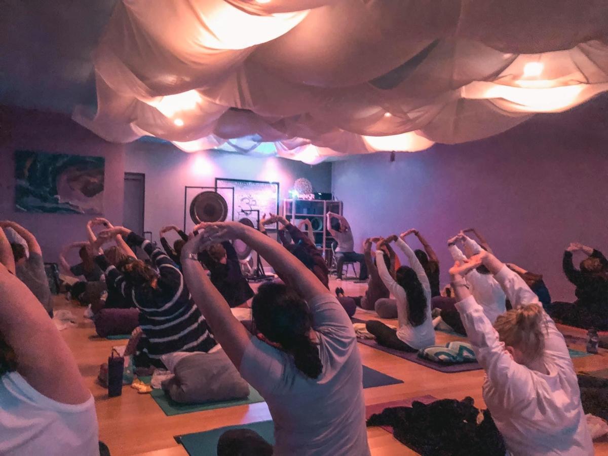 Arlington Yoga Center stretches
